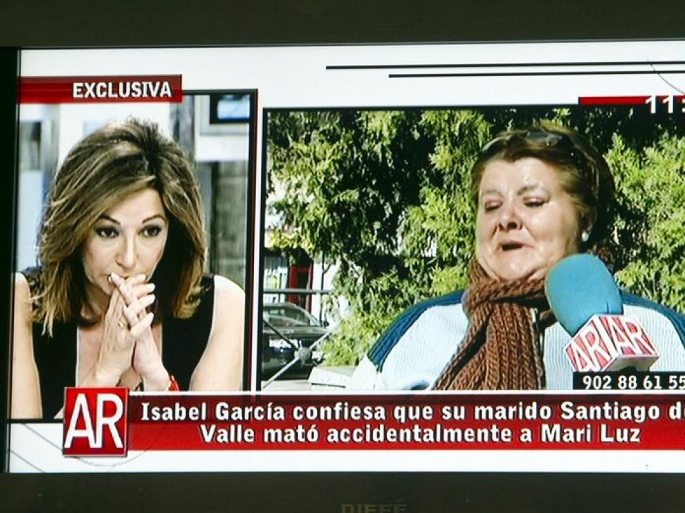 Isabel García cambió su declaración en el programa de Ana Rosa Quintana
