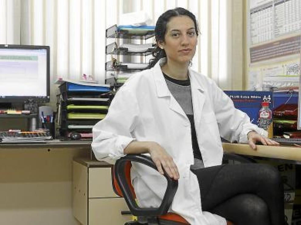 Leticia Gutiérrez-Galve, en su despacho del grupo Zarademp del Hospital Clínico.