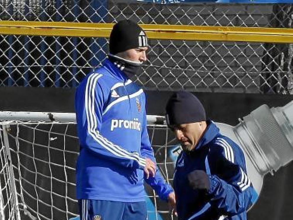 Paulo Da Silva, en un entrenamiento.