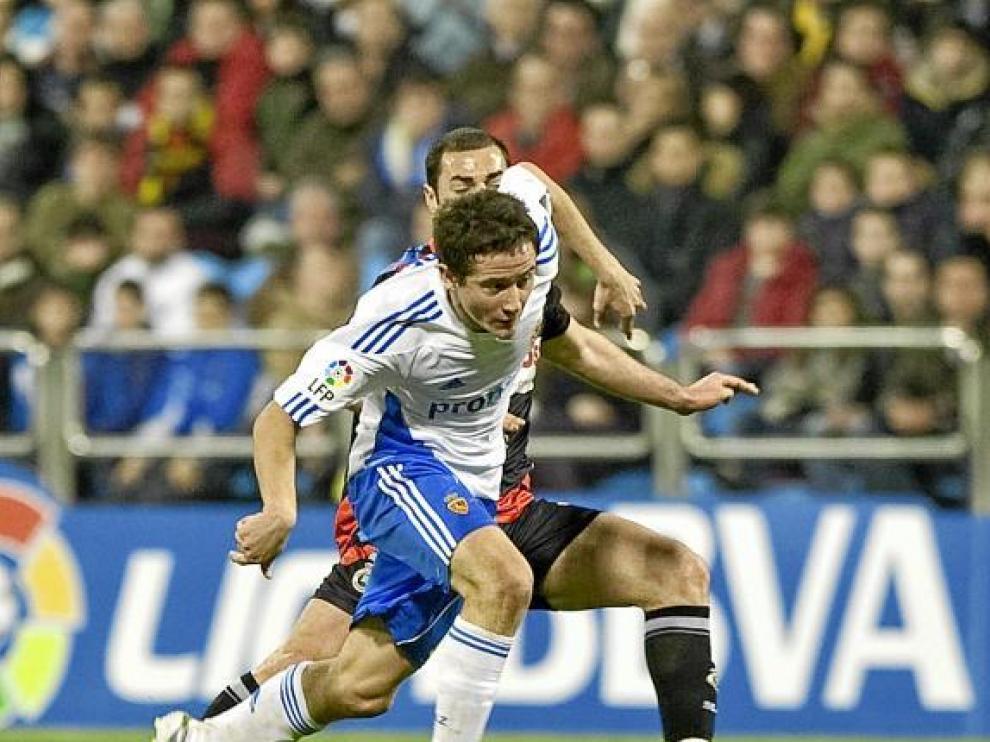 Ander Herrera conduce un balón en el partido ante el Racing de Santander.