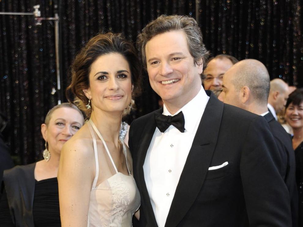 Colin Firth y su esposa