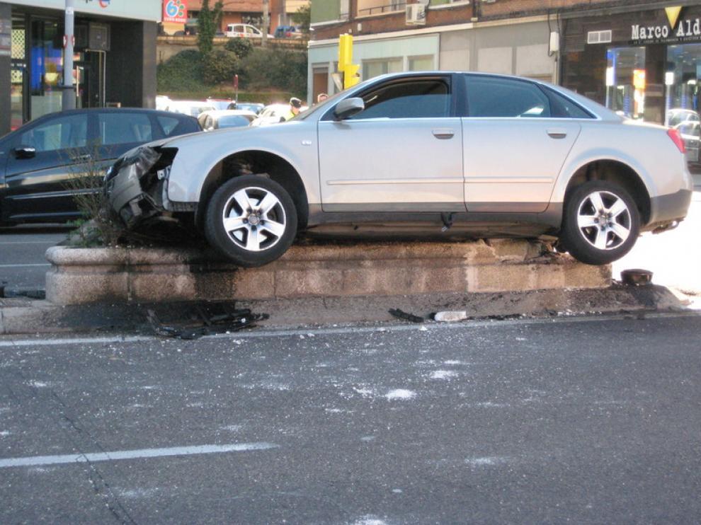 Imagen de un accidente en Zaragoza