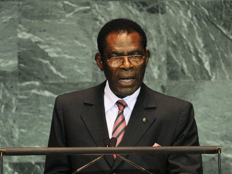 Teodoro Obiang en la sede de la ONU