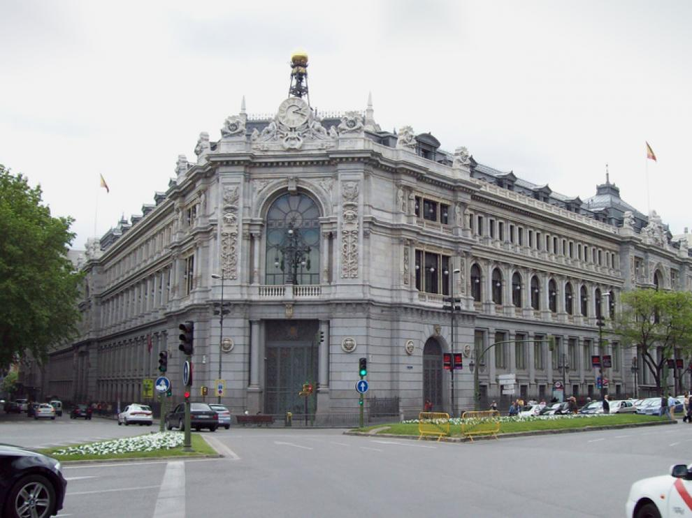 Sede del Banco de España en la madrileña plaza de Cibeles