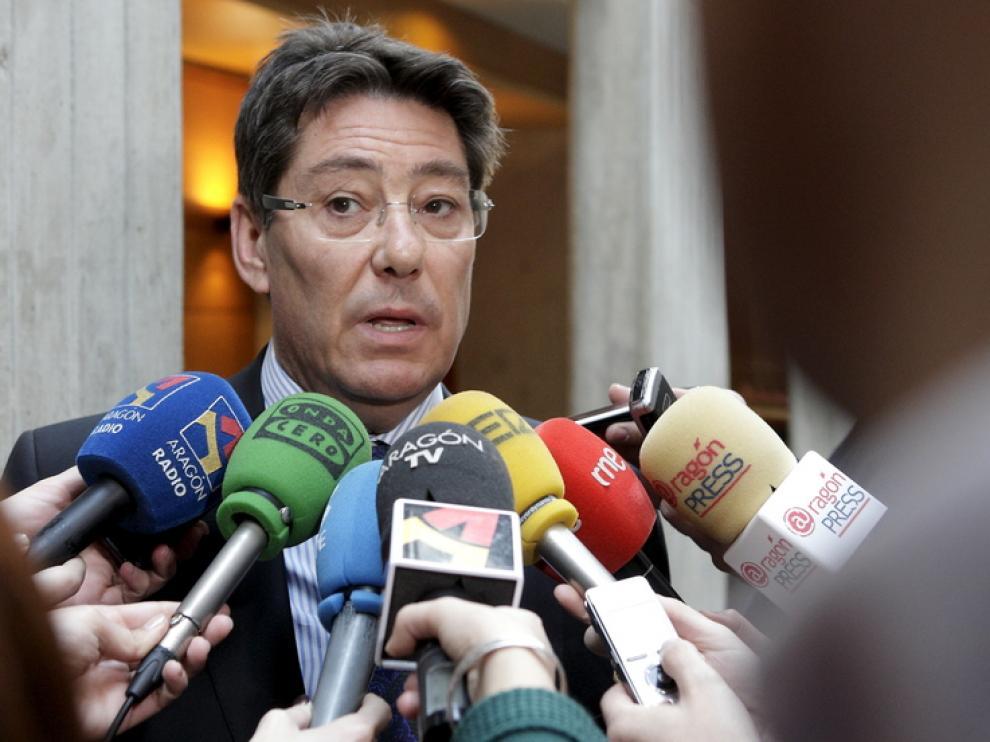 El consejero de Industria, Comercio y Turismo, Arturo Aliga