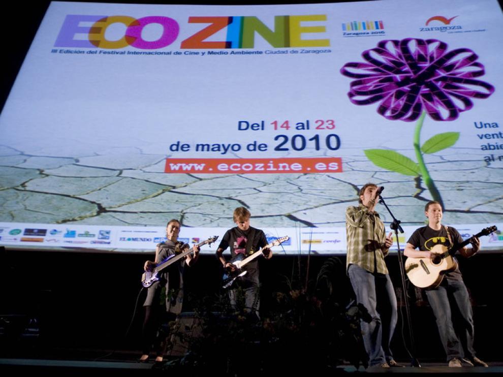 Acto de clausura de la edición de Ecozine 2010