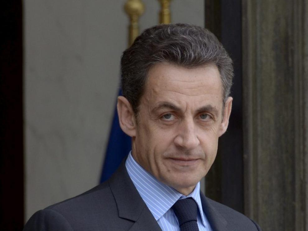 El presidente francés Nicolas Sarkozy