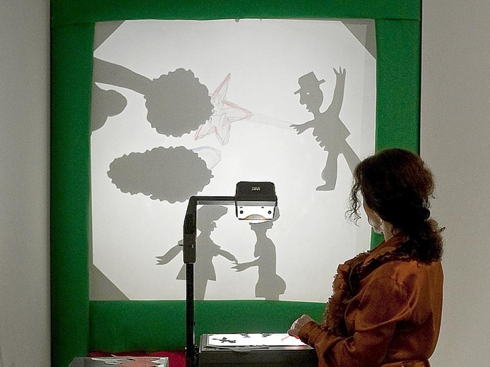 Proyector de transparencias de a exposición