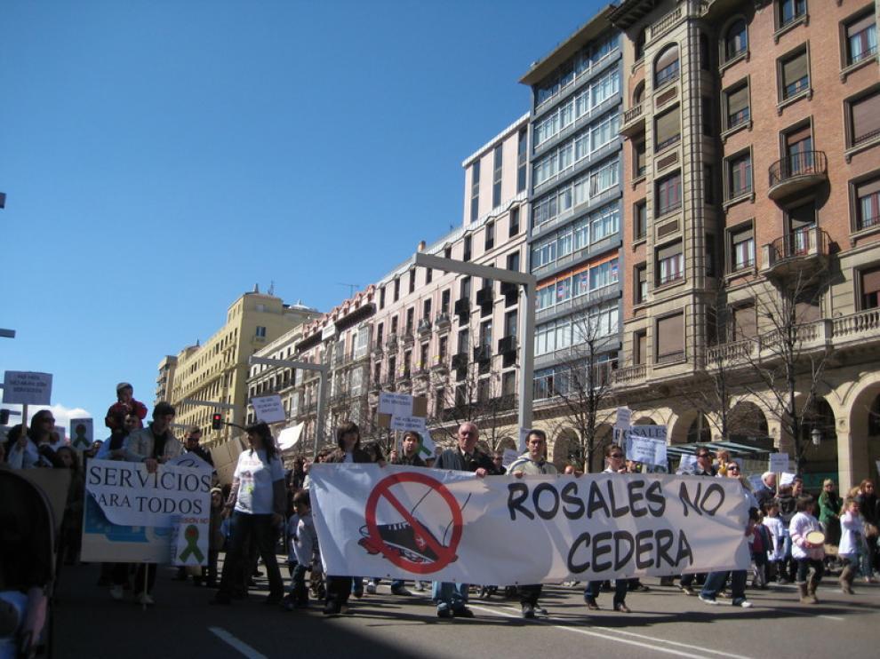 Los vecinos ya se han dejado oir en las calles de Zaragoza