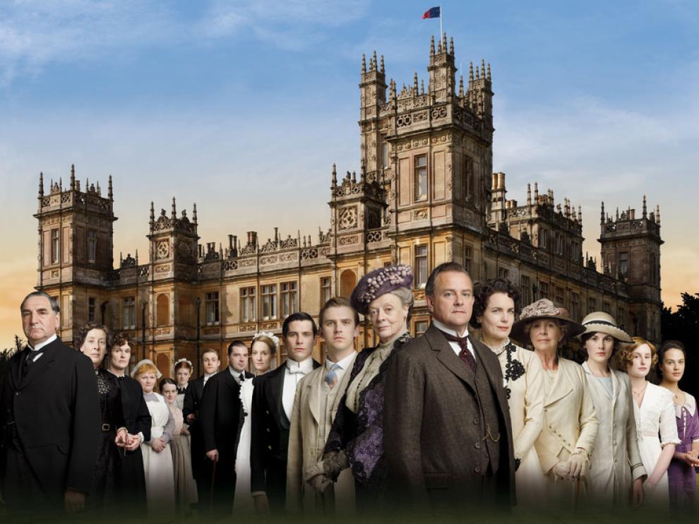 Cartel de la serie de televisión 'Downtown Abbey'