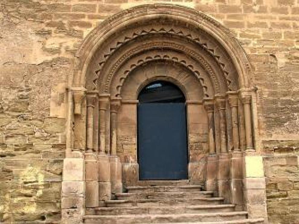 La portada, en la iglesia de San Martín de Lérida.