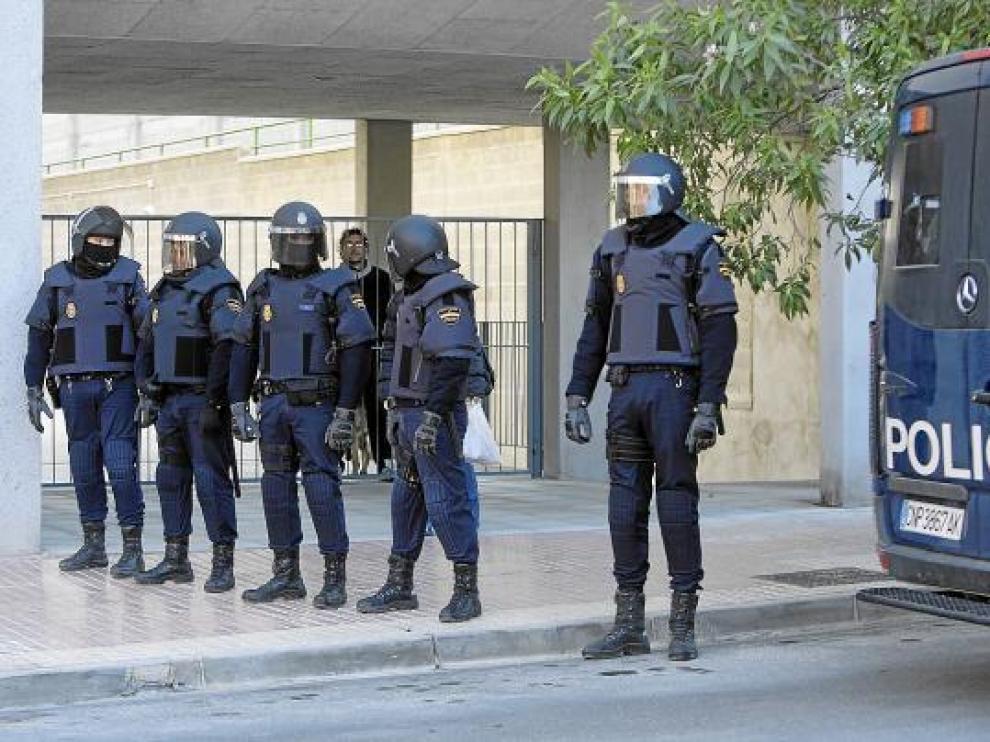 La Unidad de Intervención Policíal ha sido la última en crearse y sí que cuenta con chalecos.