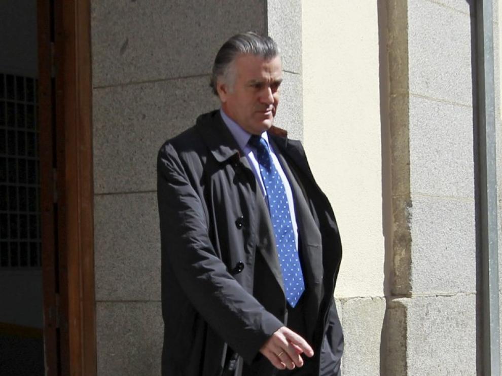 Luis Bárcenas a su salida del Tribunal Superior de Justicia de Madrid