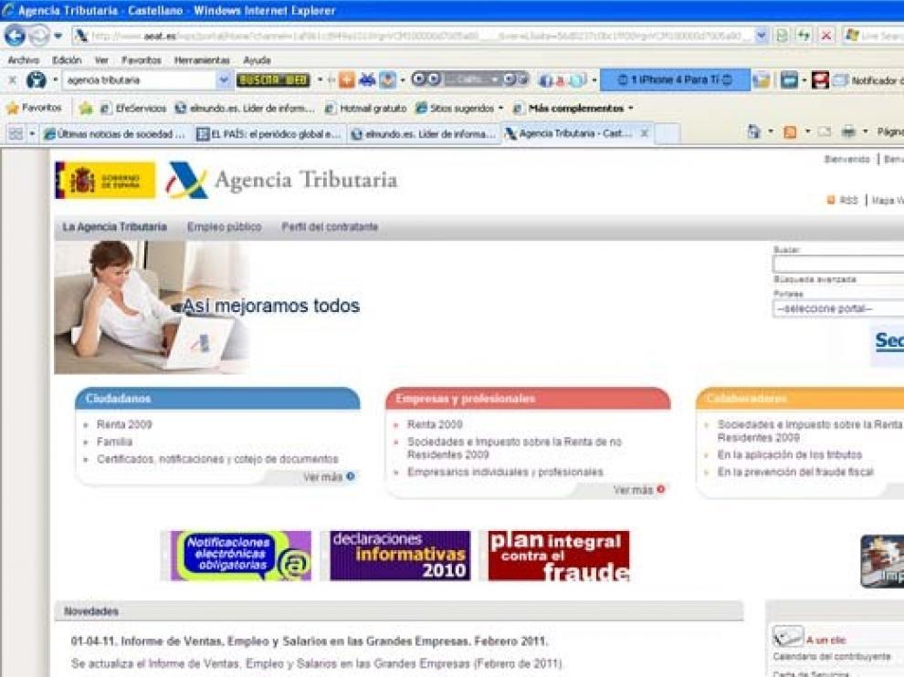 Página web de la Agencia Tributaria