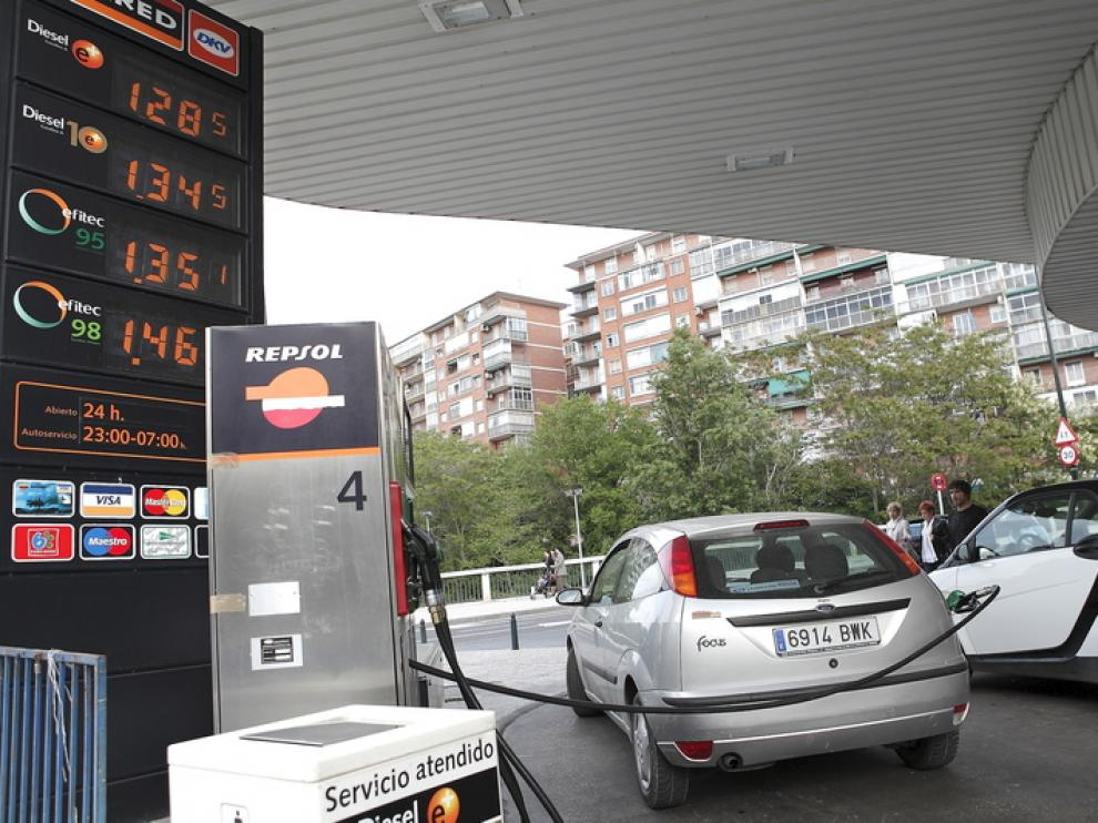 La gasolinera del Paseo de la Mina