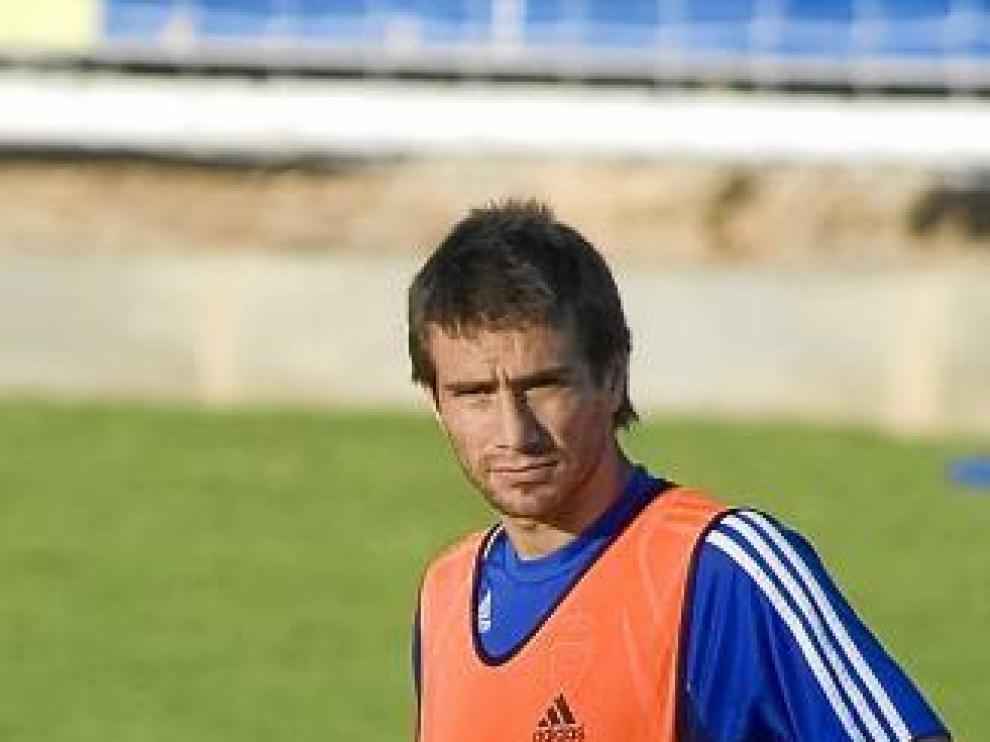 Leo Ponzio, en la Ciudad Deportiva.