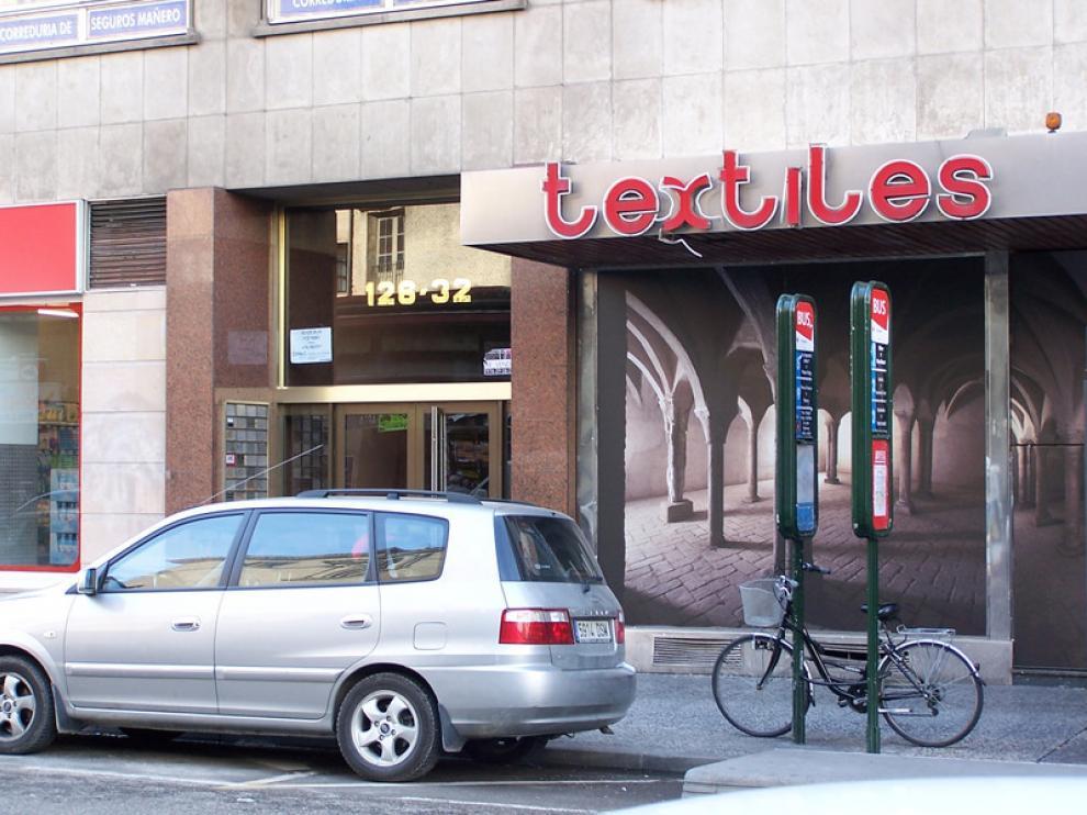 Edificio donde están los baños judíos de Zaragoza.