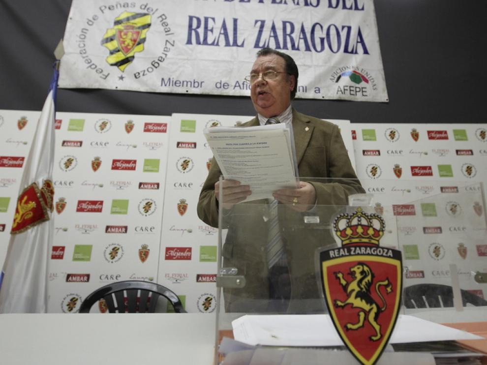 Arnaldo Félix, presidente de las peñas zaragocistas
