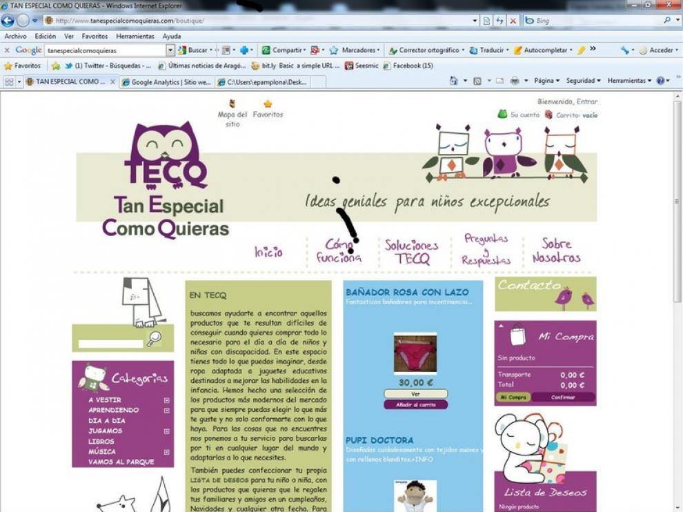 Imagen del a web Tanespecialcomoquieras.com