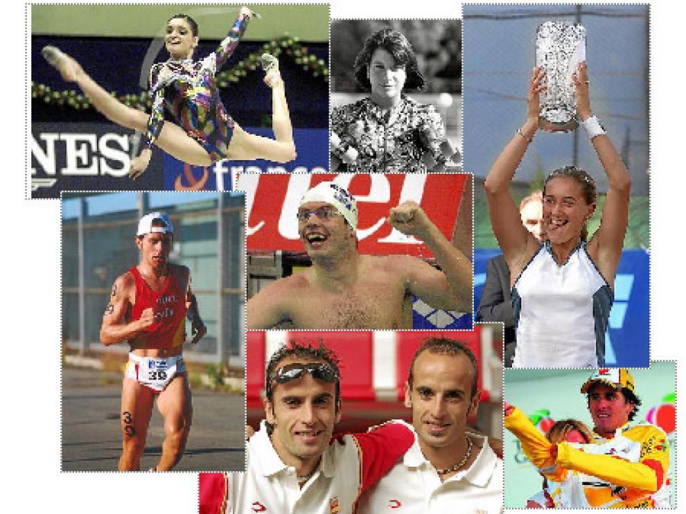 Algunos de los grandes deportistas aragoneses