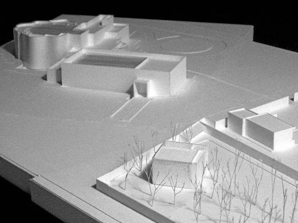 Maqueta de Sixto Marín con los distintos edificios que configurarán en el futuro el territorio del CDAN.