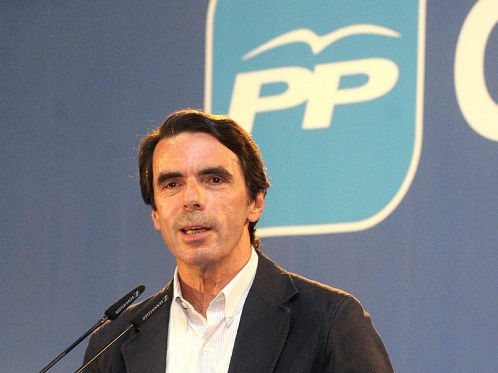 José María Aznar, durante su intervención en el acto político celebrado en Guadalajara