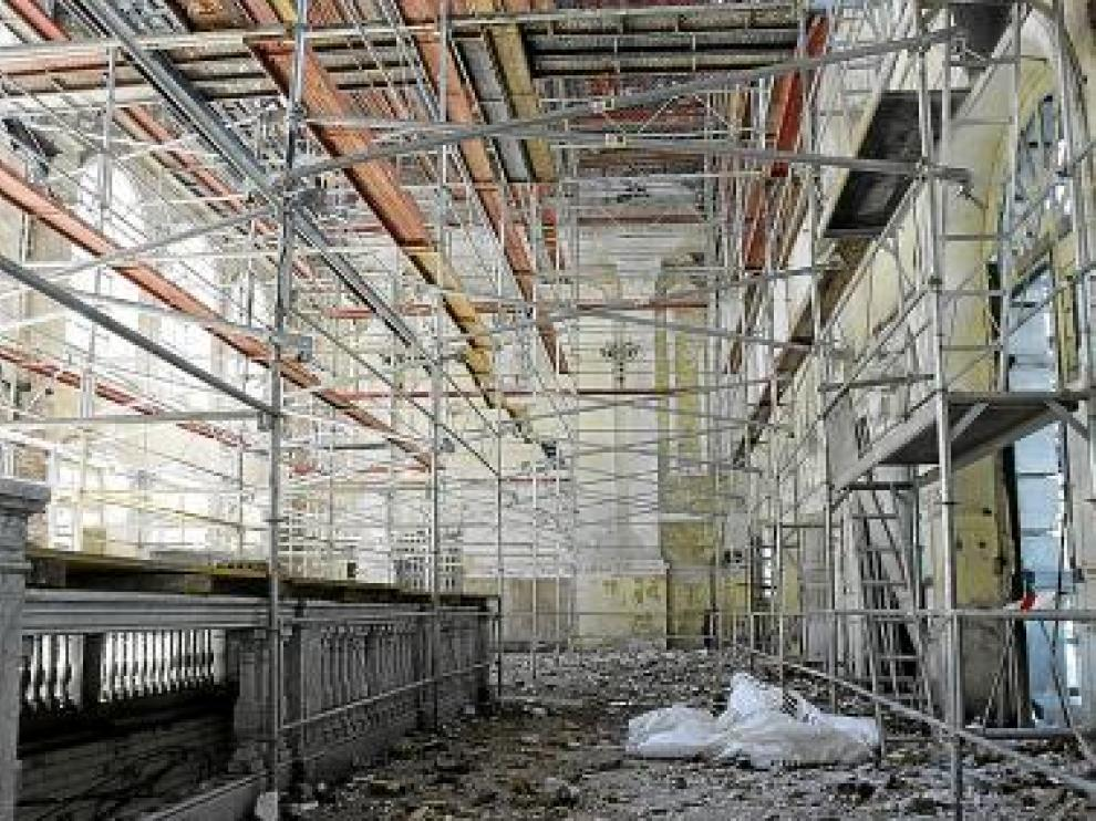 Imagen de archivo del interior del edificio en obras.