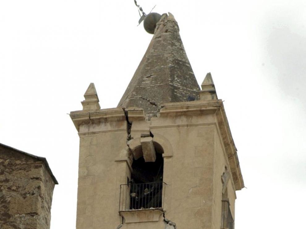 Campanario de la iglesia de San Francisco en Lorca.