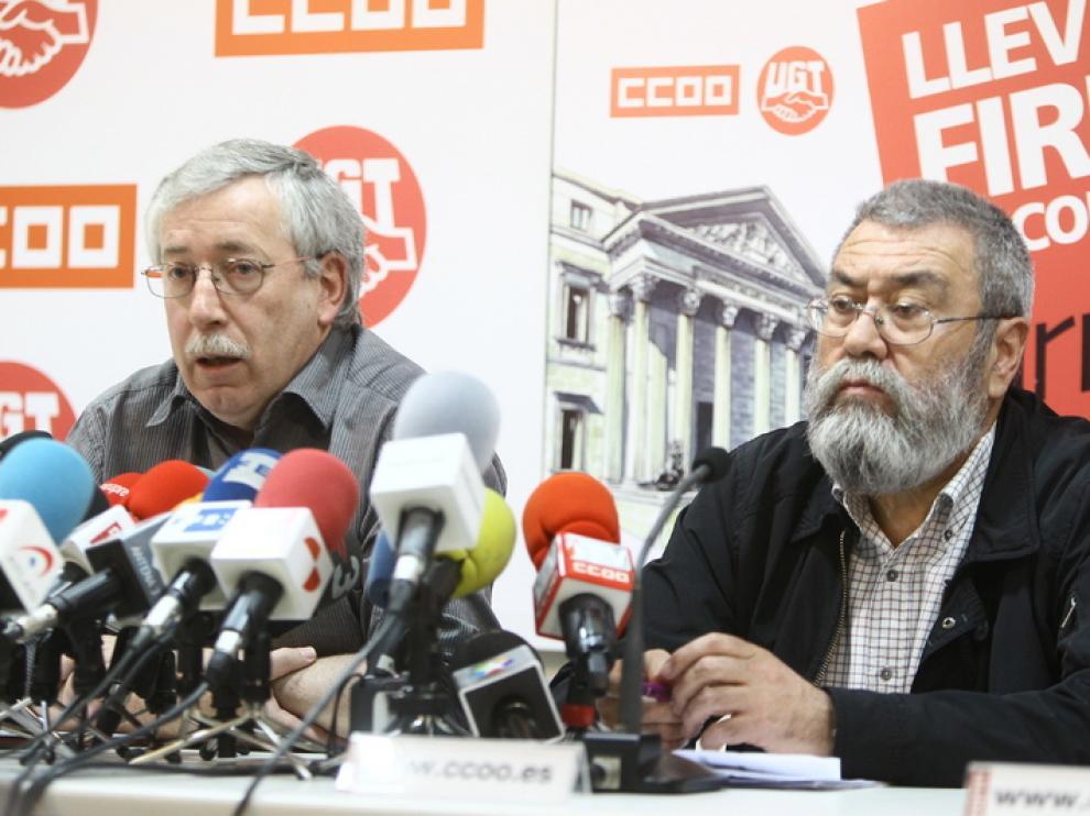 Ignacio Fernández Toxo y Cándido Méndez en una imagen de archivo