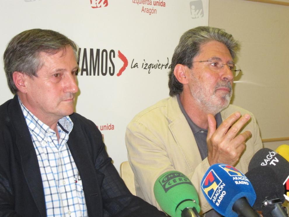 Willy Meyer y Adolfo Barrena