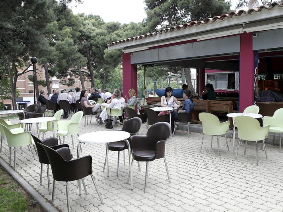 Terraza Terraluna, en el parque Castillo Palomar
