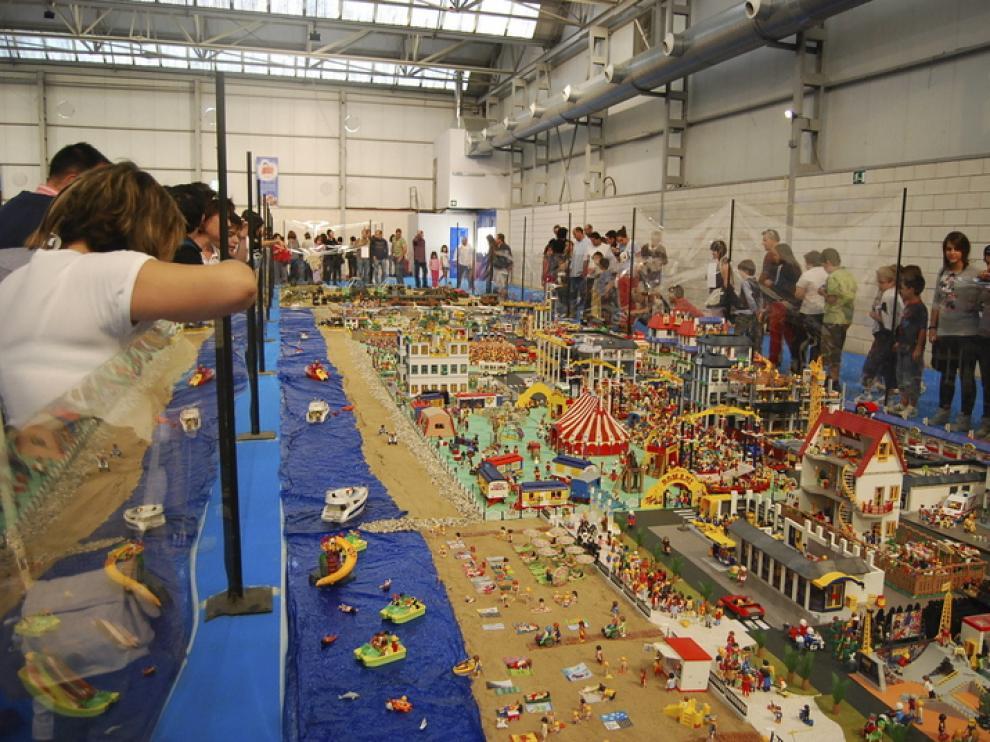 Foto de archivo de una exposición de playmobil en Barbastro