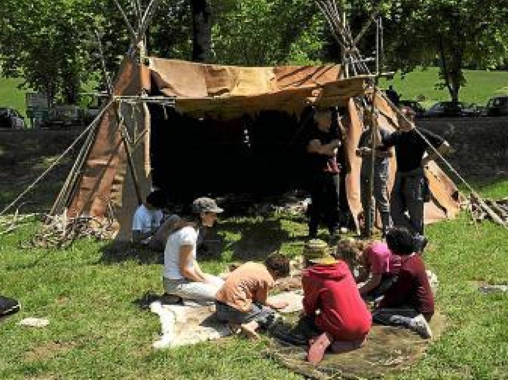 Juegos prehistóricos del Parque Río Vero, en Francia
