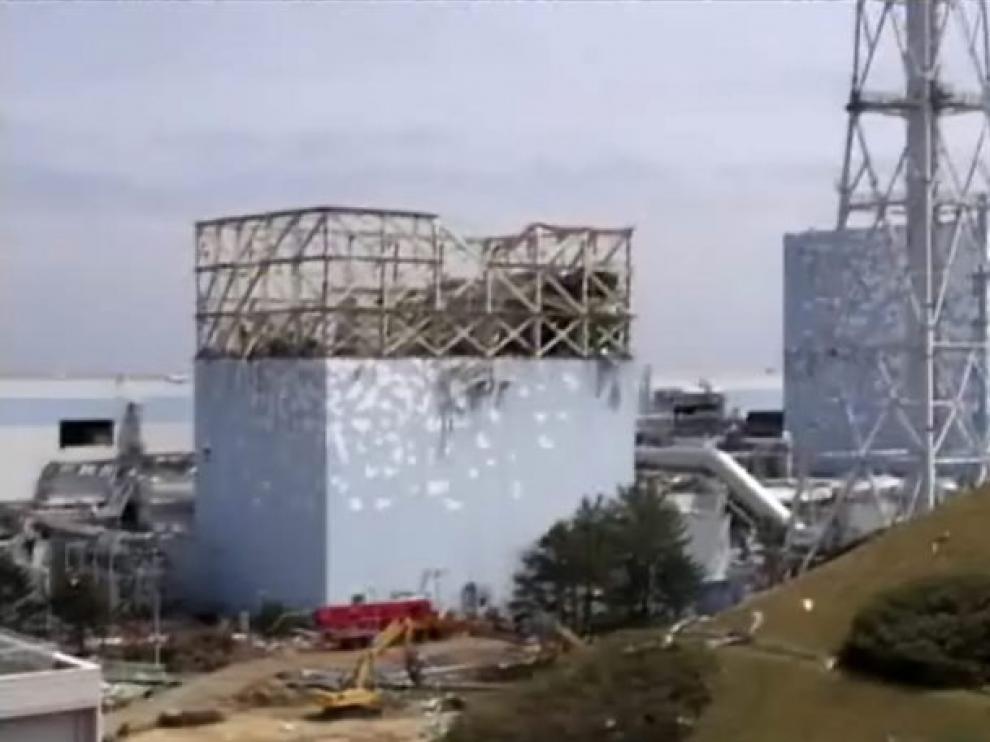 Central nuclear de Fukushima en Japón, dañada por el tsunami en marzo de 2011