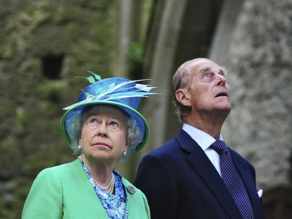 La reina Isabel II y el Duque de Edinburgo
