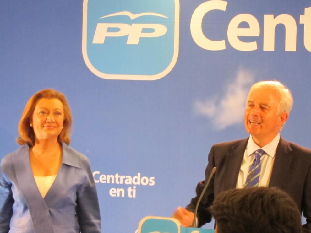 Luisa Fernanda Rudi y Eloy Suárez tras las elecciones del 22-M