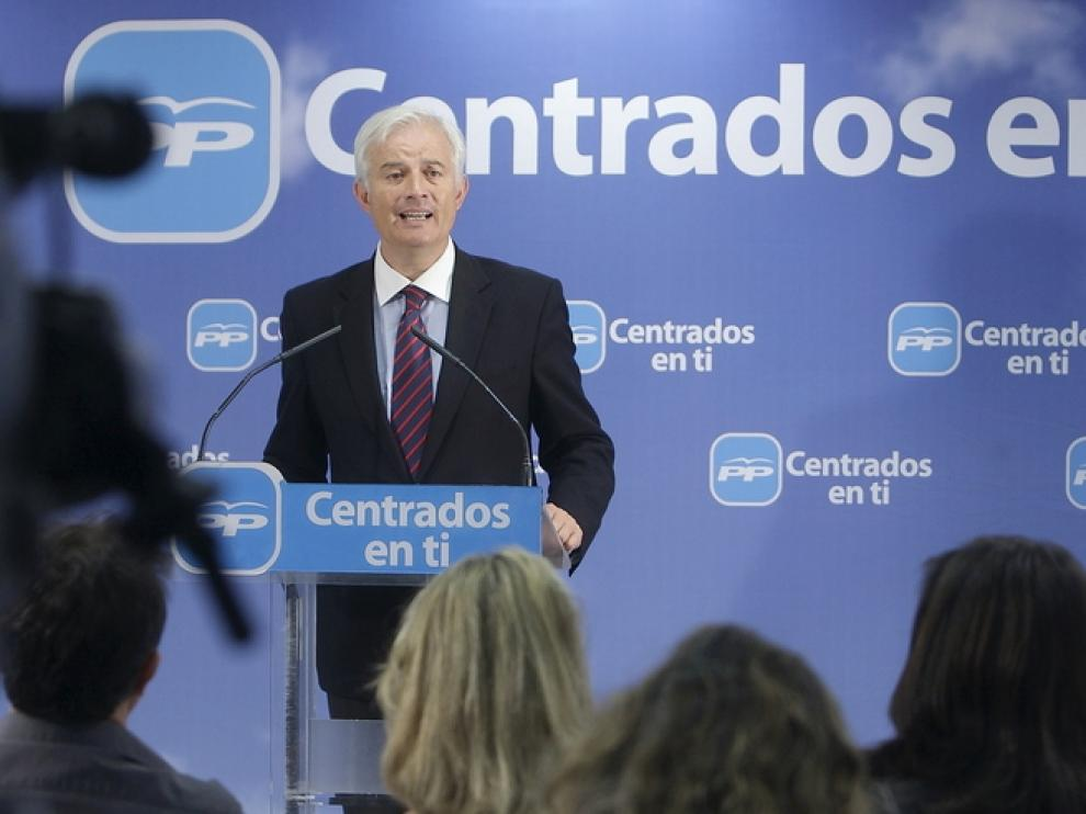 Eloy Suárez, portavoz del PP Aragón.