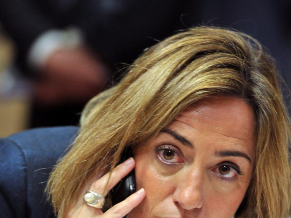 La ministra de Defensa, Carme Chacón, en una imagen de archivo