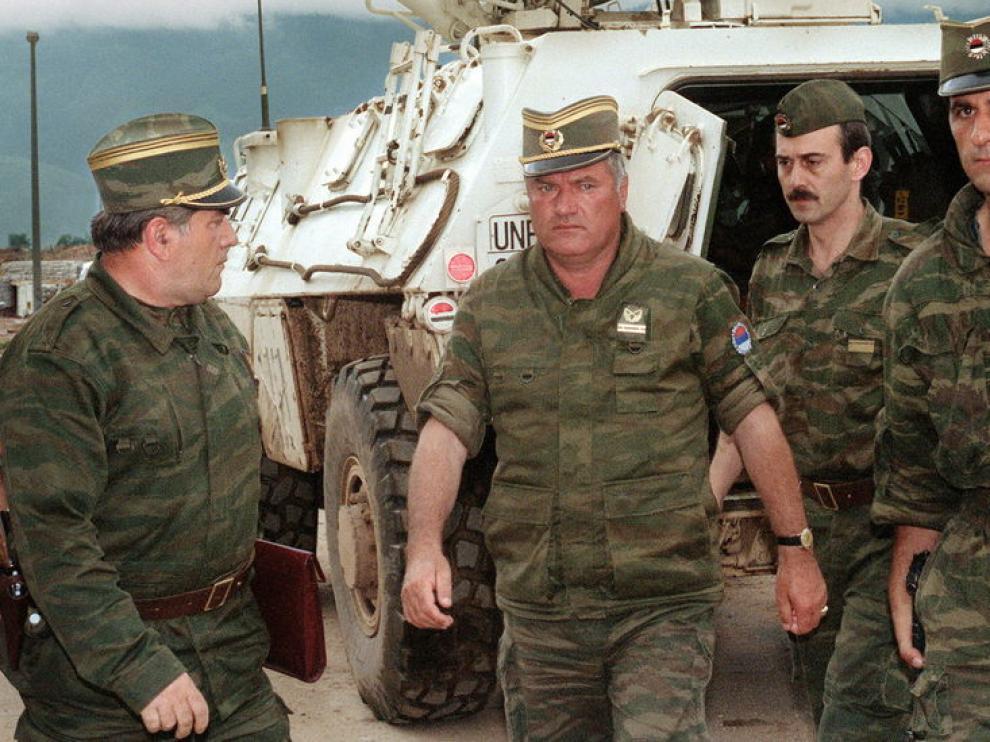 Imagen de archivo del criminal de guerra  Ratko Mladic
