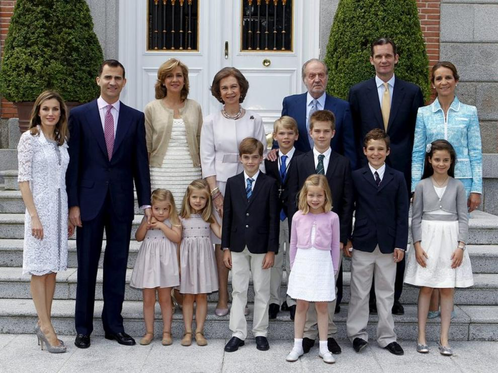 La familia Real al completo