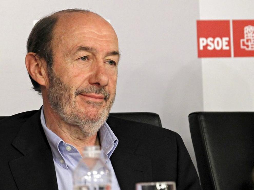 El ministro del Interior y candidato a las primarias del PSOE, Alfredo Pérez Rubalcaba