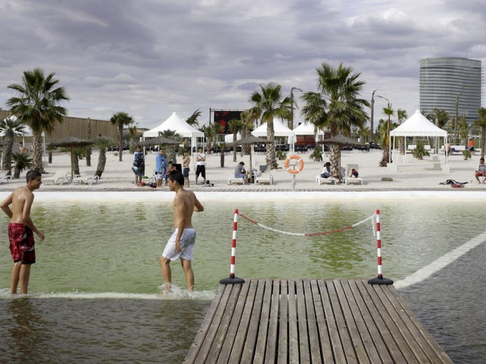 Las playas del Parque del Agua, el verano pasado.