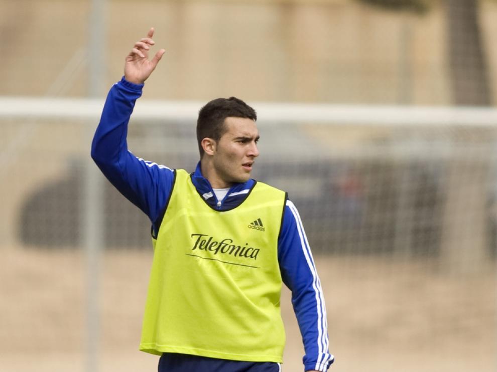 Obradovic, en uno de sus últimos entrenamientos en Zaragoza.