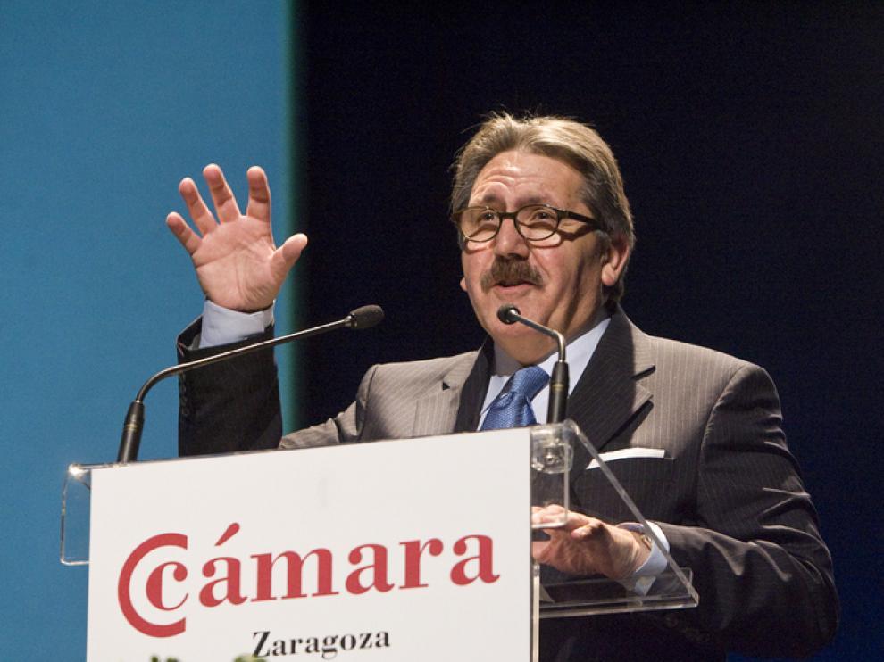El presidente del Consejo Superior de Cámaras, Manuel Teruel, durante su discurso