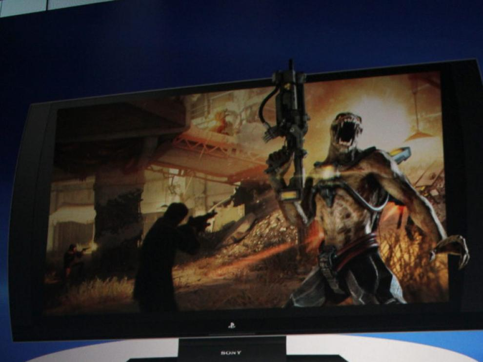 Imagen de la nueva televisión Sony PlayStation en 3D