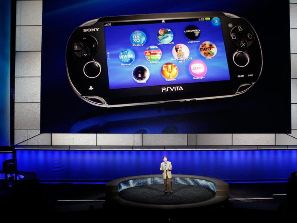 Imagen de la presentación de la PlayStation Vita