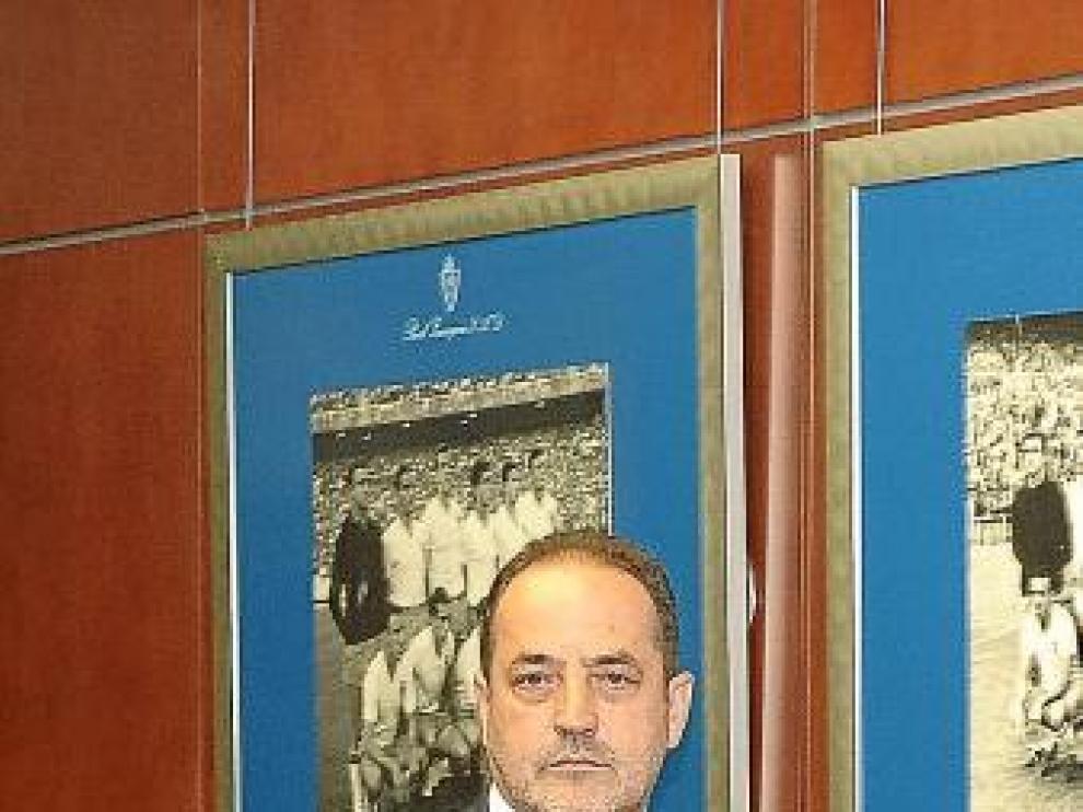 Agapito Iglesias, en la sede del Real Zaragoza.