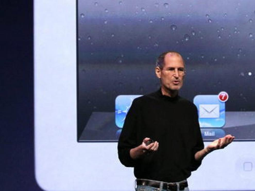 Steve Jobs durante la presentación del iPad 2, el pasado mes de marzo