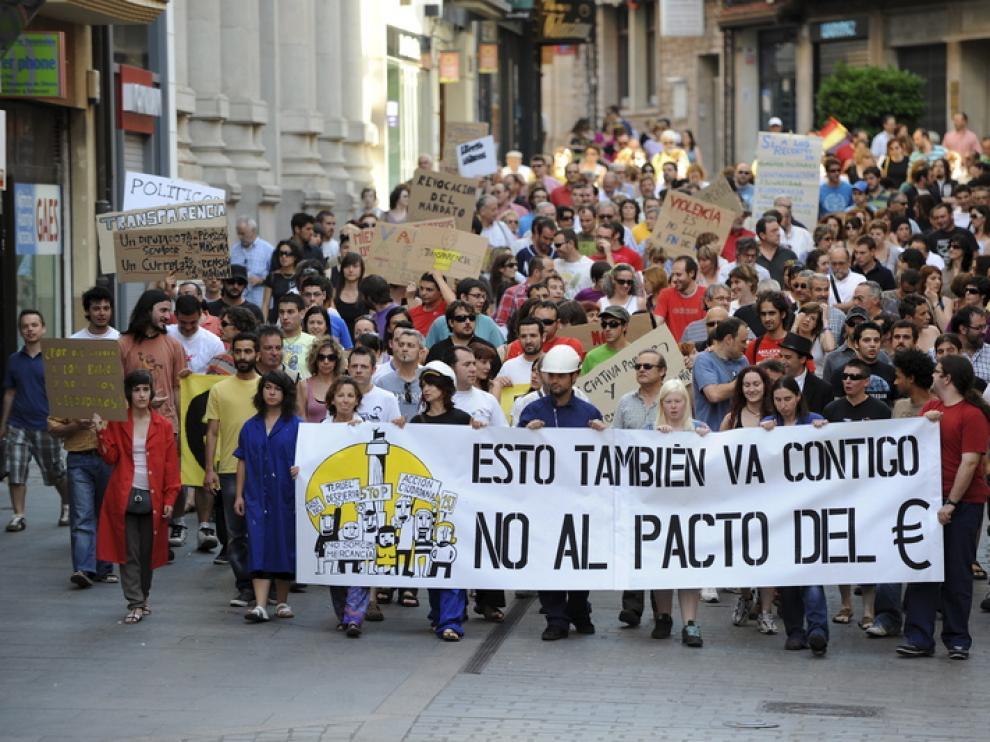 Los manifestantes recorrieron la calle de San Juan.
