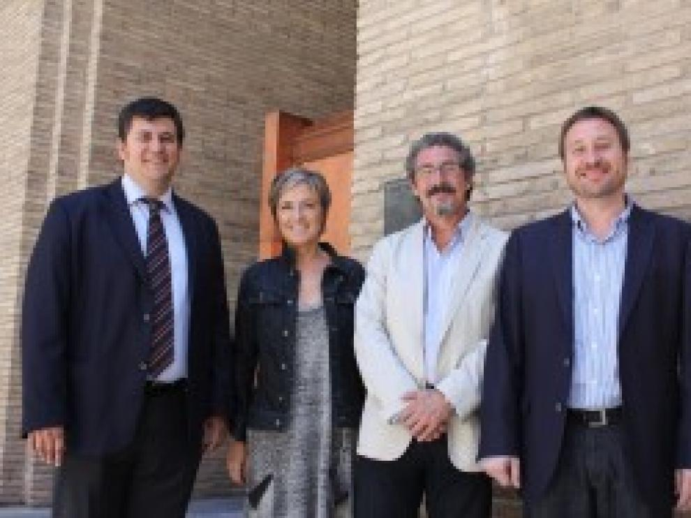 Nieves Ibeas, José Luis Soro, Gregorio Briz y Joaquín Palacín, diputados del grupo CHA